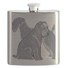 begin kerry blue terrier4 Flask