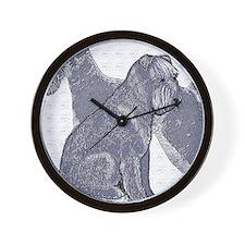 begin kerry blue terrier4 Wall Clock