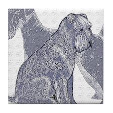 begin kerry blue terrier4 Tile Coaster