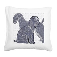 begin kerry blue terrier4 Square Canvas Pillow