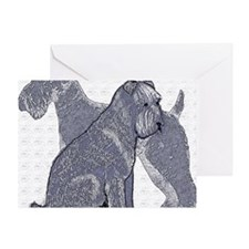 begin kerry blue terrier4 Greeting Card