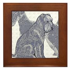 begin kerry blue terrier4 Framed Tile
