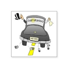 """justmarried Square Sticker 3"""" x 3"""""""