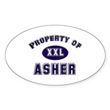 Property of asher Oval Decal