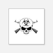 """Zombie Hunter 2 white Square Sticker 3"""" x 3"""""""