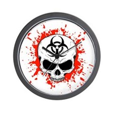 Zombie Hunter 3 white Wall Clock