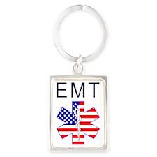 EMT flag Portrait Keychain