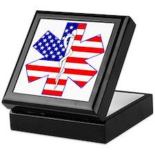Flag Star Keepsake Box