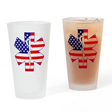 Flag Star Drinking Glass