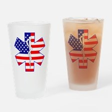 Flag Star Drinking Glass