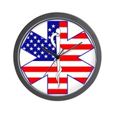 Flag Star Wall Clock
