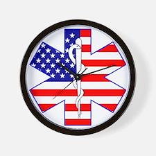 Flag Star Wall Clock