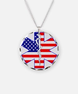 Flag Star Necklace