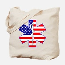 Flag Star Tote Bag