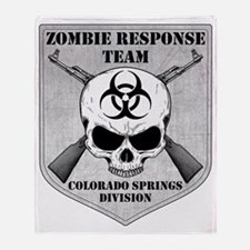 Zombie Response Team Colorado Spring Throw Blanket