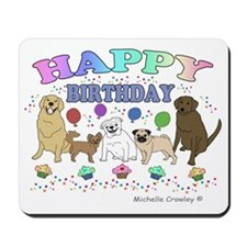 HAPPYBDAYPETS Mousepad