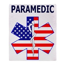 pARAMEDIC FLAG Throw Blanket