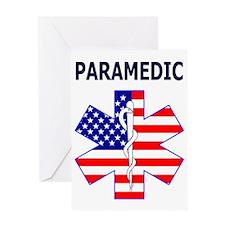 pARAMEDIC FLAG Greeting Card
