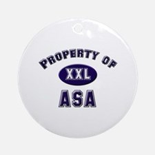 Property of asa Ornament (Round)