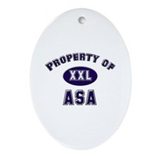 Property of asa Oval Ornament