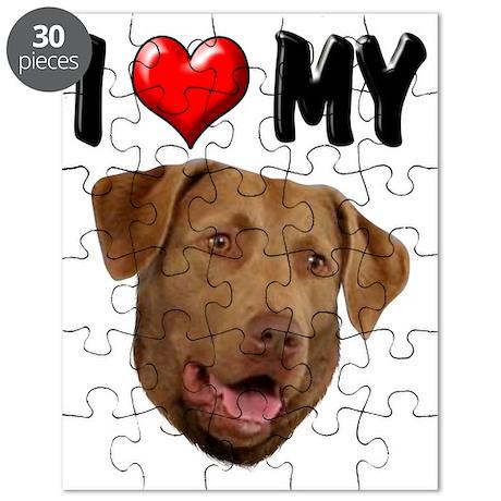 I Love My Chesapeake Bay Retriever Puzzle