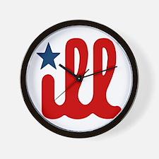 ILL RWB Wall Clock