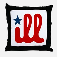 ILL RWB Throw Pillow