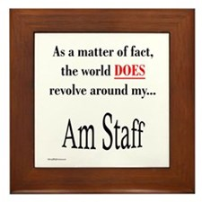Am Staff World Framed Tile