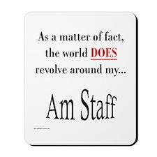 Am Staff World Mousepad