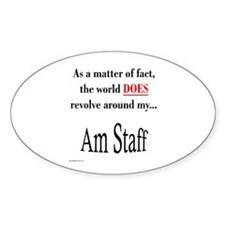 Am Staff World Oval Decal