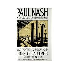 Paul Nash WWI Artist Exhibition P Rectangle Magnet
