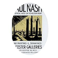 Paul Nash WWI Artist Exhibition Post Oval Ornament