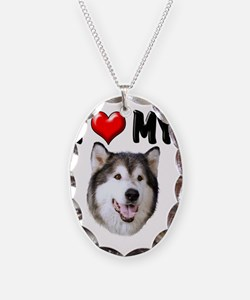 I Love My Alaskan Malamute Necklace