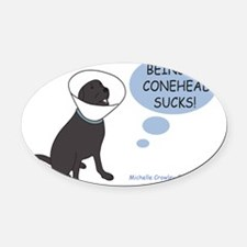 Conehead Oval Car Magnet