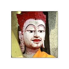 """Cal1_Buddha_Buddhism_Calend Square Sticker 3"""" x 3"""""""