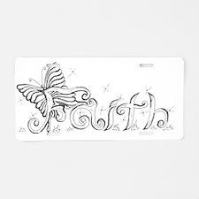 butterfly Faith 2 Aluminum License Plate