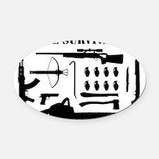 Zombie Survival Kit Oval Car Magnet