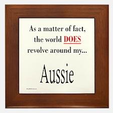 Aussie World Framed Tile