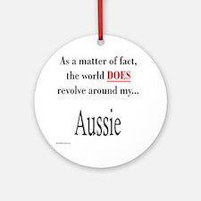 Aussie World Ornament (Round)