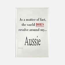 Aussie World Rectangle Magnet