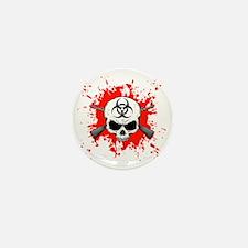 Zombie Hunter 1 white Mini Button