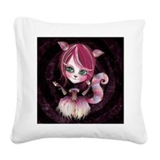 Kitty Cat Square Canvas Pillow