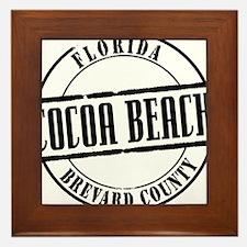 Cocoa Beach Title W Framed Tile
