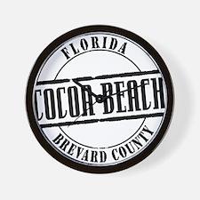 Cocoa Beach Title W Wall Clock