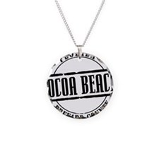 Cocoa Beach Title W Necklace Circle Charm