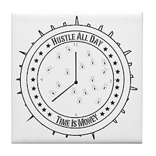 Hustle All Day Tile Coaster