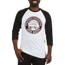 Pig Black Leg Black Burst- Brown Baseball Jersey