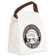 Pig Black Leg Black Burst- Brown Canvas Lunch Bag