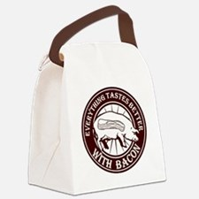 Pig Black Leg Black Burst- Brown Canvas Lunch Bag