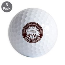 Pig Black Leg Black Burst- Brown Golf Ball